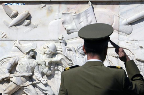 73rd anniversary of end of World War II marked in Bucharest, Romania