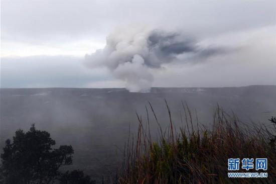 (国际)夏威夷基拉韦火山喷出火山灰