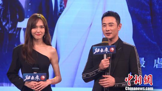 电视剧《归去来》是唐嫣(图左)和罗晋(图右)第五次搭档合作。 康玉湛 摄