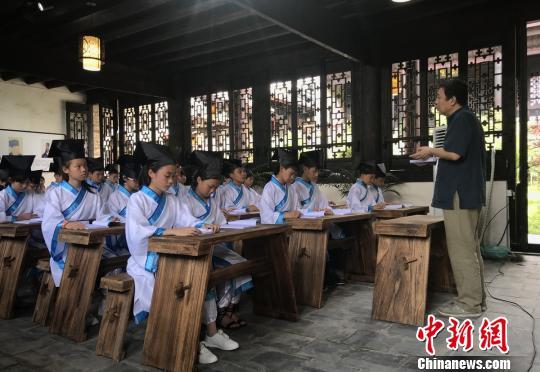 周敦颐故里湖南道县用经典诵读传承国学文化