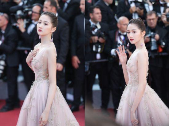 关晓彤欧莱雅戛纳电影节:确认过眼神,是西柚色的小仙女