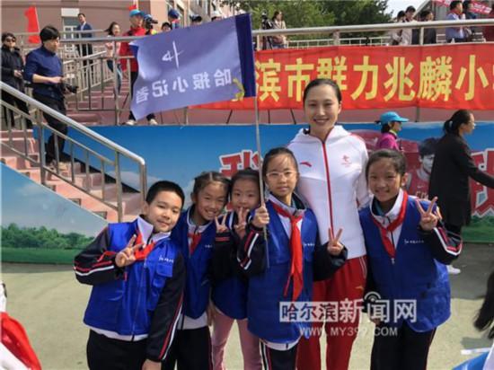 冬奥冠军张虹助阵冰雪运动进校园