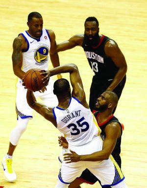 NBA西决:哈登赢了数据杜少笑到最后