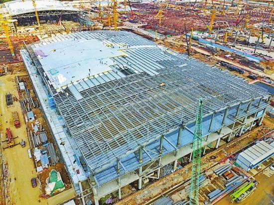 深圳国际会展中心启动钢构大会战