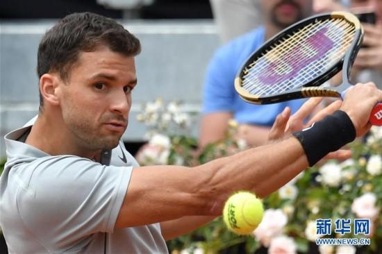 (体育)(5)网球――意大利公开赛:锦织圭晋级