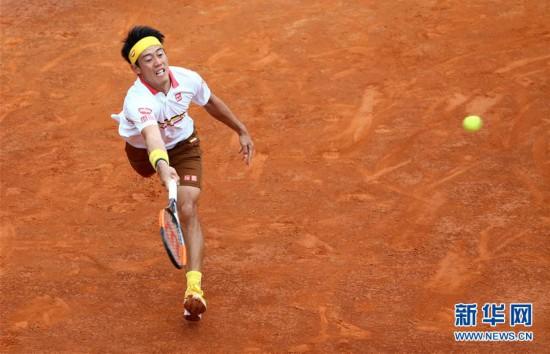 (体育)(4)网球――意大利公开赛:锦织圭晋级