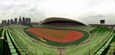 18日扬州体育公园体育场将迎首场省运赛事