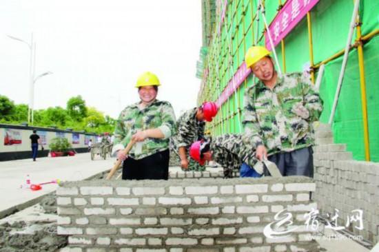 200工人亮绝活 泗洪举办建筑领域技能名工比赛