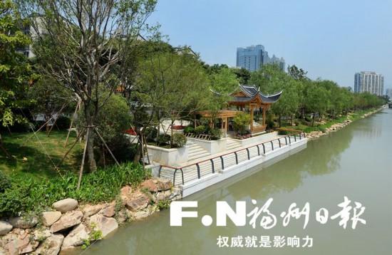 福州晋安河景观提升6月底将全面完工 古运河畔添八景