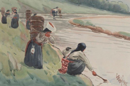 负水,作者:韩乐然,创作年代:1945,规格:32x47.5cm
