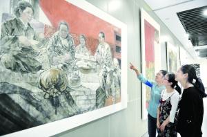"""""""纪念周恩来诞辰120周年""""中国画作品展在宿迁开展"""