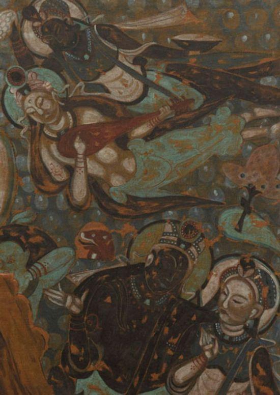 摹绘佛奘飞天图 克孜尔63窟,作者:韩乐然,创作年代:1946,规格:89.5x64cm