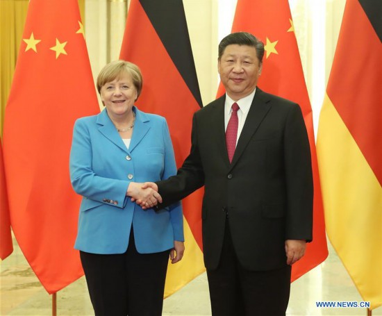 CHINA-BEIJING-GERMANY-XI JINPING-MERKEL-MEETING (CN)