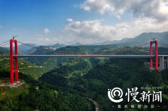 笋溪河特大桥预计下月通车 揭秘重庆第一高桥