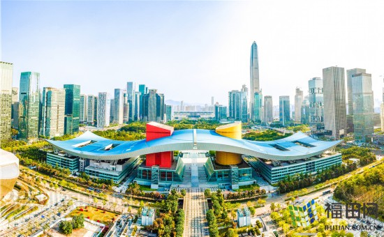航拍深圳市民中心
