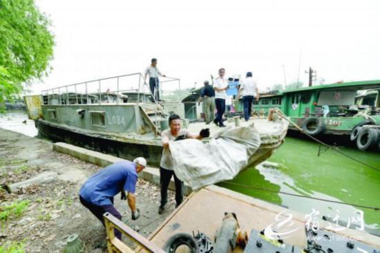 宿迁规范京杭运河城区段船舶停泊秩序