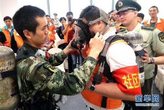 (社会)(1)上海开展消防安全演练活动