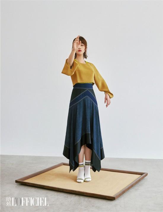 蓝盈莹《时装LOFFICIEL》个性写真 时尚复古尽展率性自我
