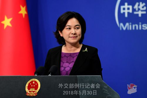 Foreign Ministry spokesperson Hua Chunying [Photo: fmprc.gov.cn]