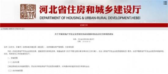 6月1日起河北省开展房地产开发企业资质告知承诺制审批试点