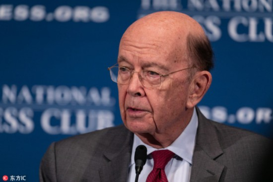 Wilbur Ross, the 39th U.S. Secretary of Commerce, speaks at the National Press Club (NPC) Headliners Luncheon in Washington, D.C., on Monday, May 14, 2018. [Photo: IC]