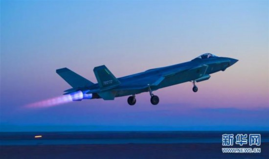 J-20 fighter takes part in nighttime exercise in air superiority role