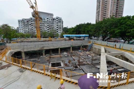 福州梅峰河畔景观已初现雏形 污水处理站有望9月投用