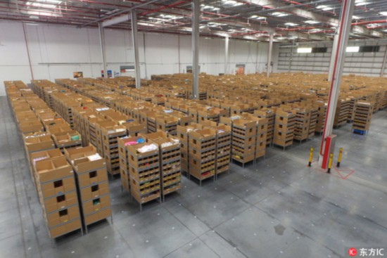 The interior of a logistics warehouse of Cainiao Network, Alibaba's delivery arm, is seen in Huiyang city, south China's Guangdong province, October 17, 2017. [File photo: IC]
