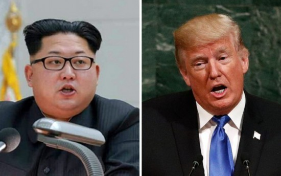 A file picture shows North Korean leader Kim Jong-Un (L) and US President Donald J. Trump (R) [Photo: IC]