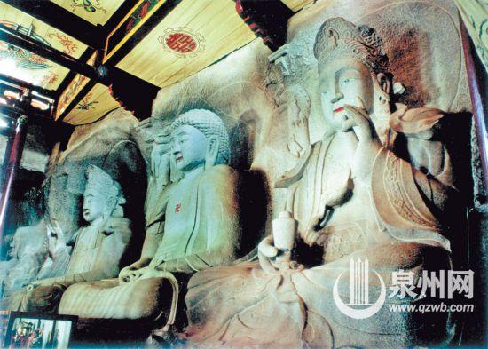 南天寺西方三圣造像