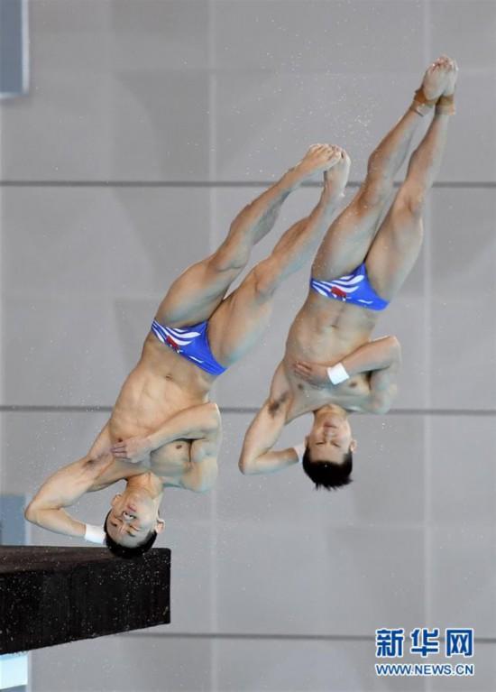 (体育)(11)跳水――世界杯:陈艾森/杨昊获男子双人十米跳台冠军