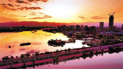 日落阅海湾