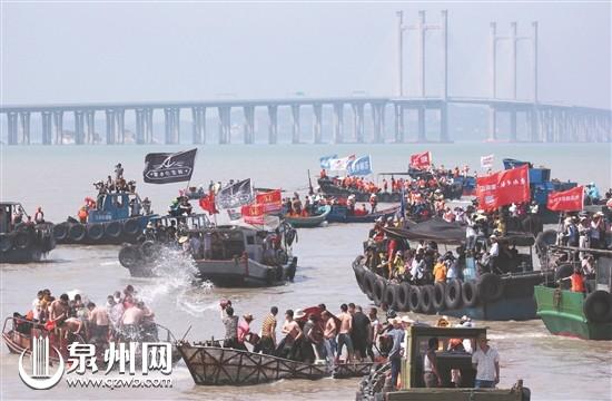 第十二届闽台对渡文化节暨蚶江海上泼水节将在石狮举办