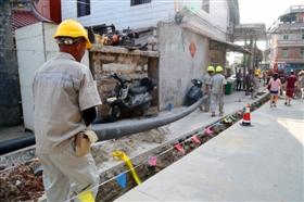 石狮老旧给水管道改造:30多个村居给水管道升级