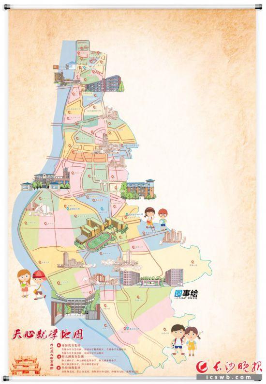 制图/王   斌  手绘/余宁山  说明:该就学地图仅展示了部分学校,请以实际为准。