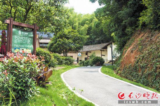 长沙县开慧镇锡福村民宿区道路。