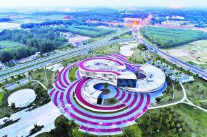 航拍淮安市国际自行车文化城
