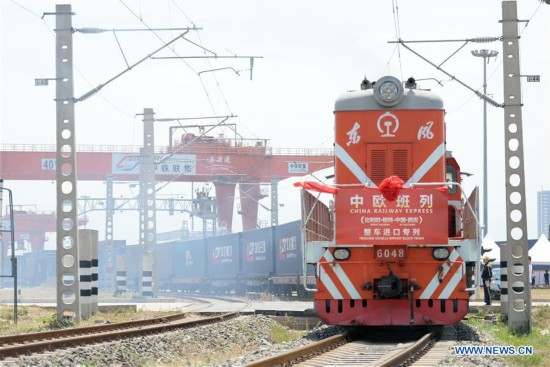 Freight train from Belgium arrives in Xi'an, China's Shaanxi