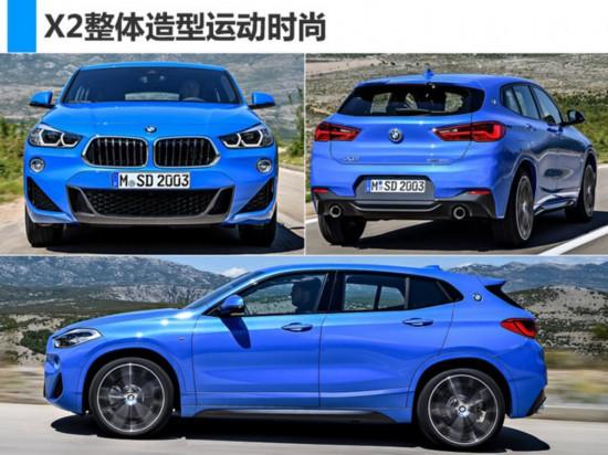 宝马进口X2售价曝光推2款车型或35.8万元起售