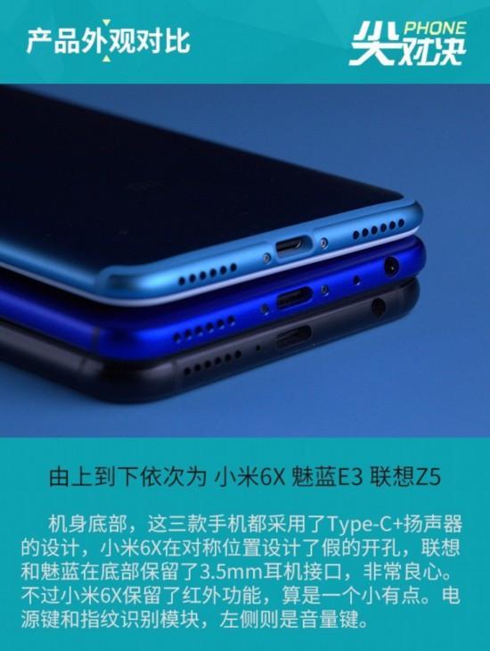 联想Z5/小米6X/魅蓝E3 千元选它就好
