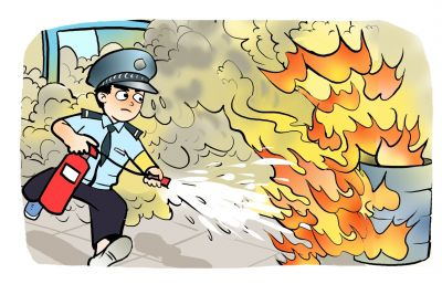 男子点燃汽油轻生 扬州辅警两次冲进火场灭火