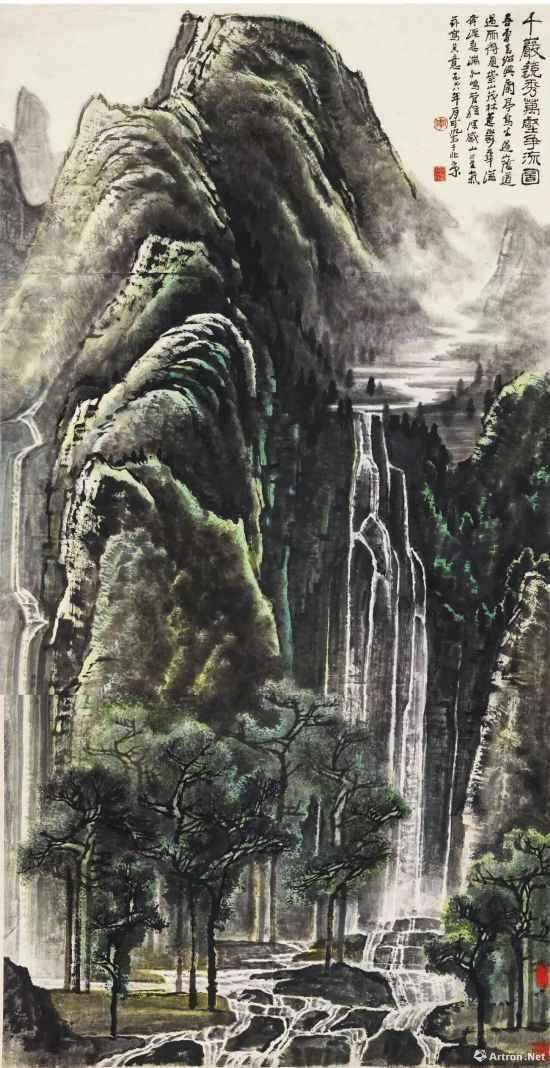 李可染 千岩竞秀万壑争流图
