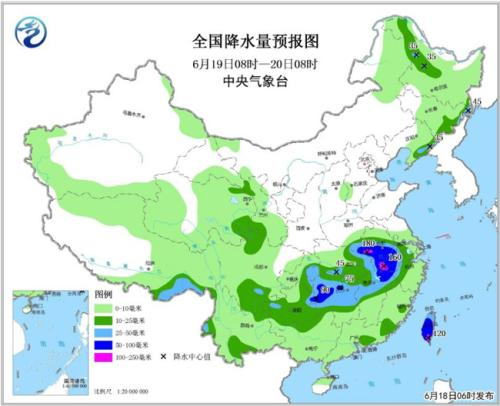 中东部高温降雨齐上阵 湖北中北部有大到暴雨