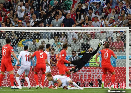 绝杀!凯恩独中两元 英格兰首战2-1胜突尼斯