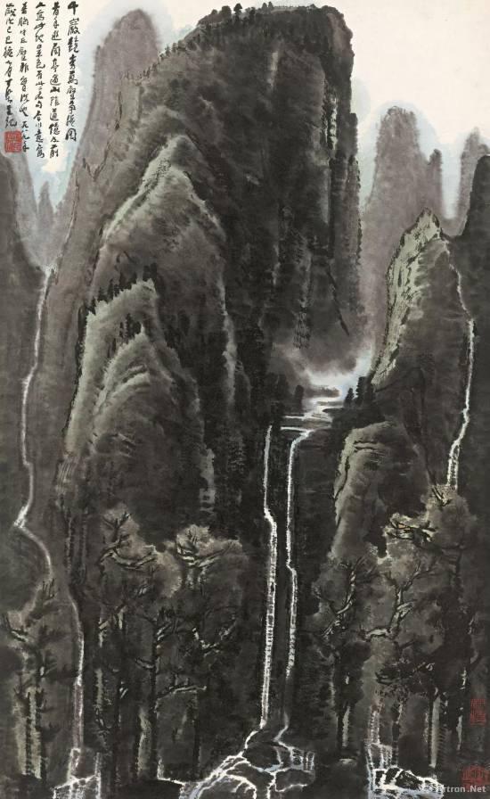 李可染 《千岩竞秀万壑争流》 1989年