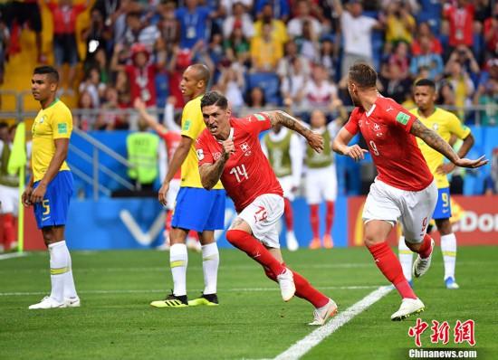 库蒂尼奥远射祖贝尔头球 巴西1-1战平瑞士