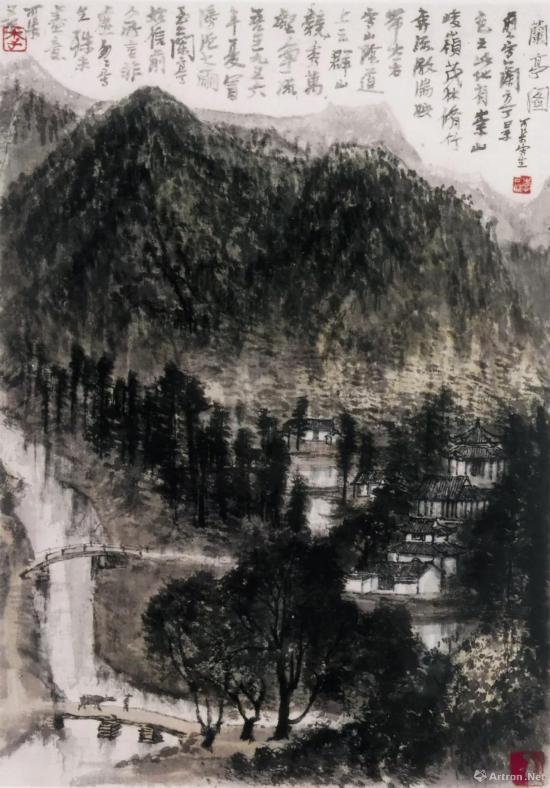 李可染 《兰亭图》 1956年