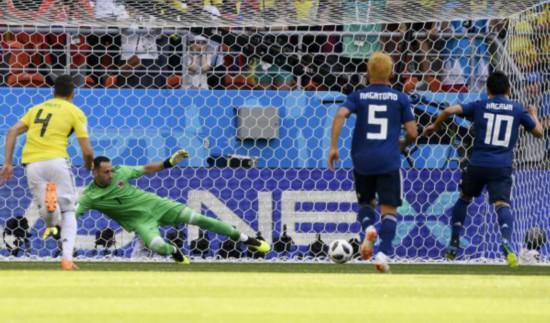 世界杯首现红牌 日本2-1战胜哥伦比亚让整个世界杯都热闹了