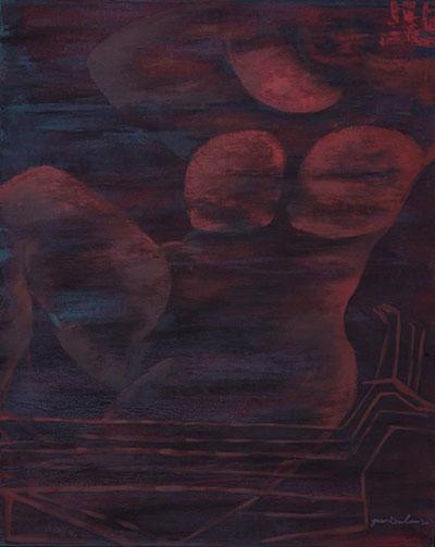 袁小楼油画作品《奔月3》