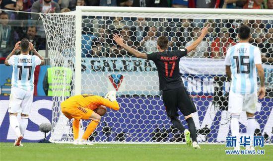 (世界杯)(34)足球――D组:克罗地亚队击败阿根廷队